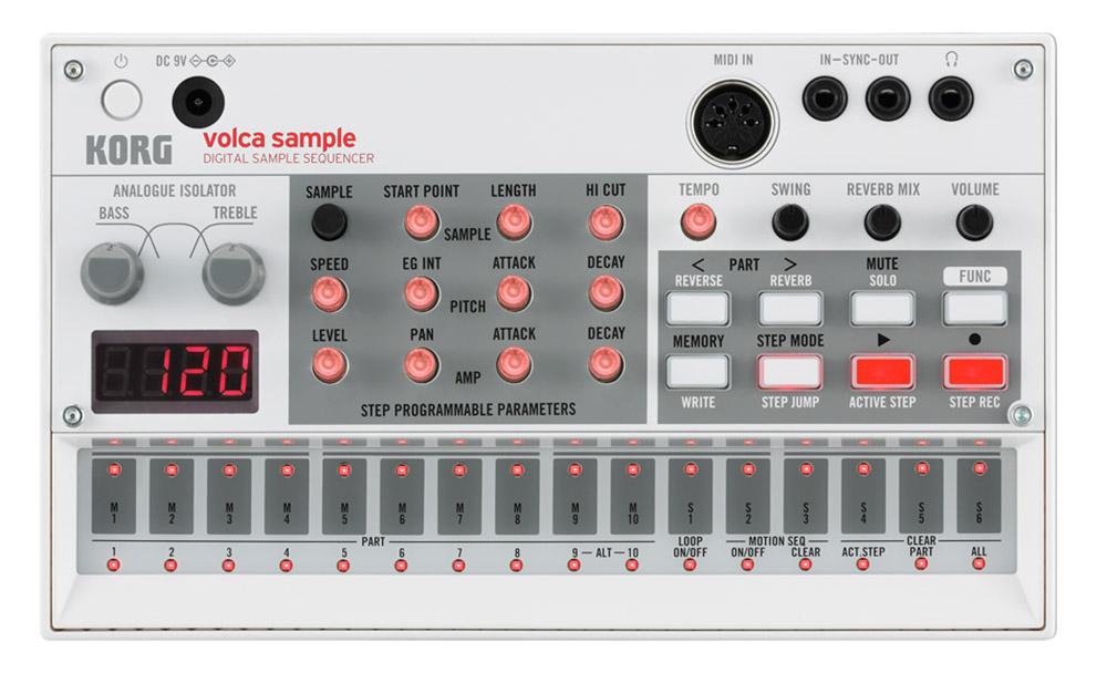 Аналоговый синтезатор/семплер Korg Volca Sample